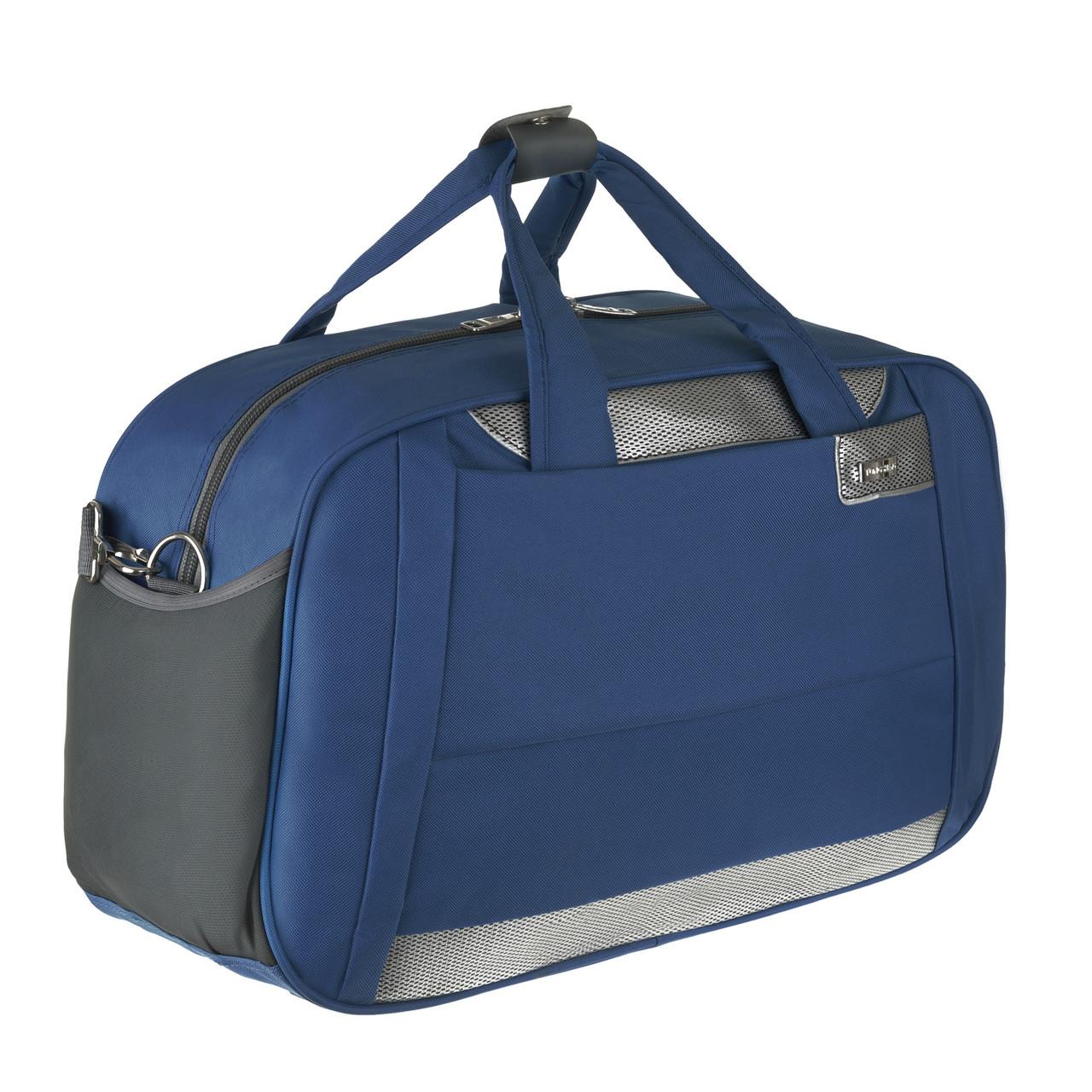 Дорожня сумка TONGSHENG  54х34х20 синяя полиэстер на ПВХ основе кс99929син