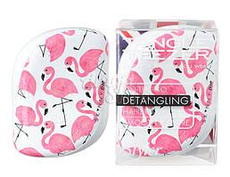 Расческа Tangle Teezer Compact Flamingo Skinny Dip - White