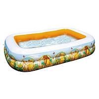 Детский надувной бассейн Intex 57492 «Король Лев» Прямоугольный