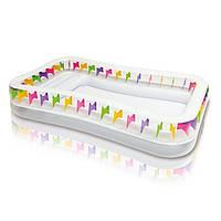 Детский надувной бассейн Intex 57477 «Плавательный центр» с надувными сидениями