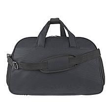 Дорожня сумка TONGSHENG полиэстер на ПВХ основе 54х34х20 чёрная  кс99929ч, фото 3