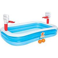 Детский надувной бассейн Bestway 54122 «Баскетбол» с шариками, фото 1