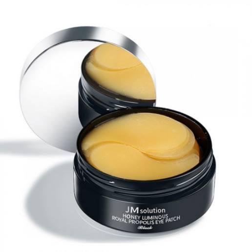 JMsolution Honey Luminous Royal Propolis Eye Patch Black Гидрогелевые патчи с экстрактом прополиса, 60 шт