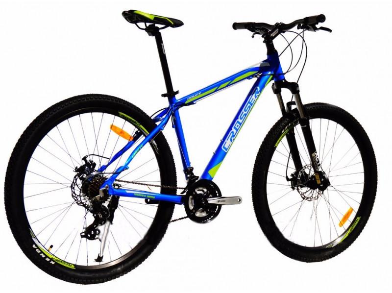 "Crosser Count 29"" Велосипед 2-х кол. синий Shimano алюминиевая рама противоударный обод"