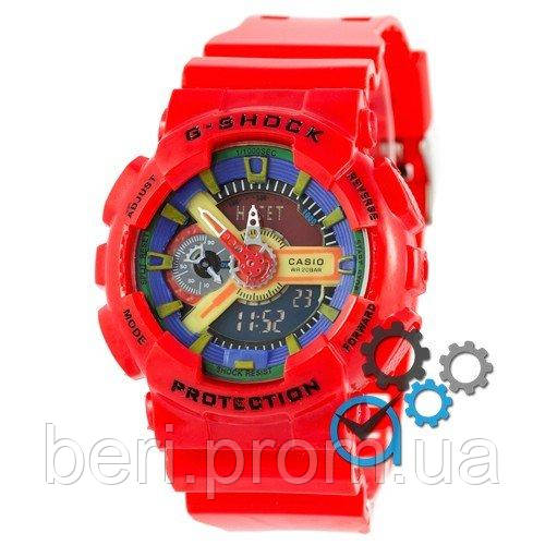 Часы наручные | Годинник наручний Casio G-Shock GA-110 Red-Blue-Yellow (Красно-Синий)