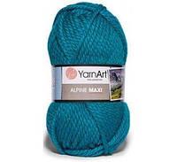 Пряжа для ручного вязания YarnArt Alpine Maxi (Альпин макси) толстая зимняя пряжа  нитки 660 темная бирюза