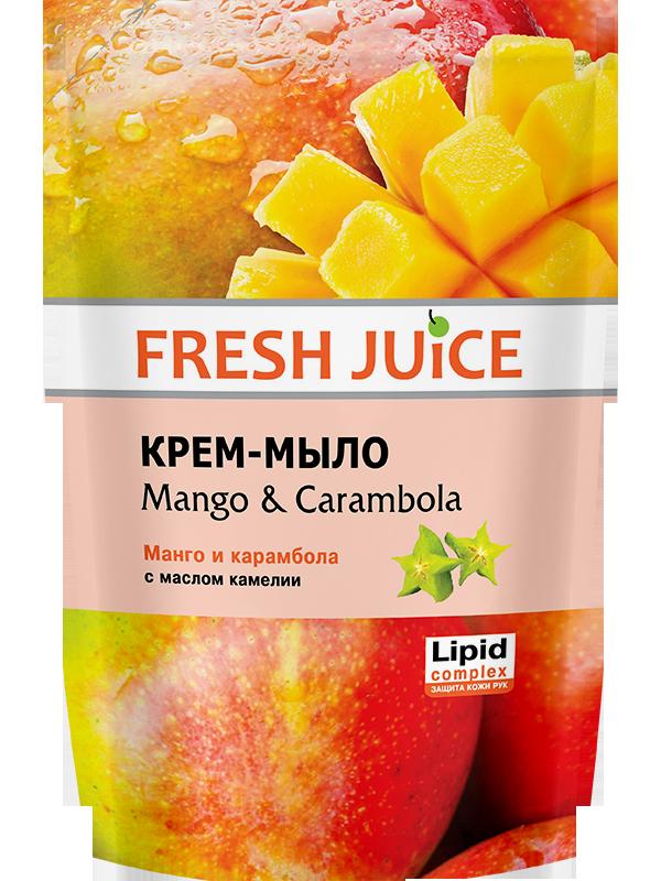 """Крем-мыло Fresh Juice """"Mango & Carambola"""" дой-пак (460мл.)"""