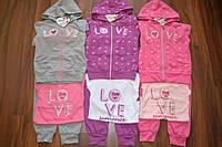 Трикотажные спортивные костюмы тройки для девочек,Размеры 98-128 см,фирма SINCERE., фото 1