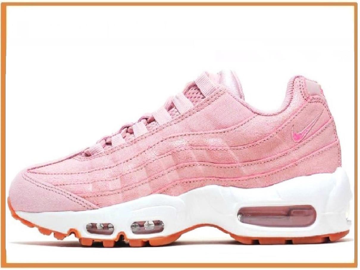 f1eb0b08 Женские кроссовки Nike Air Max 95 Pink White (найк аир макс 95, розовые /