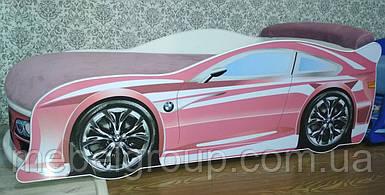 Ліжко машина БМВ рожева
