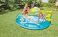 Надувной игровой центр с бассейном и горкой 57129 Intex, размер 203х173х189 см., фото 1