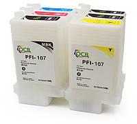 Перезаправляемые картриджи Ocbestjet для плоттеров Canon iPF670/iPF770 без чипов (6 шт. по 130 мл)