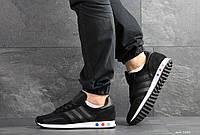 Мужские кроссовки в стиле Adidas La Trainer, сетка, замша, черные 44 (28,3 см)