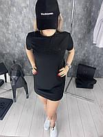 Платье BALENCIAGA D1711 черное, фото 1