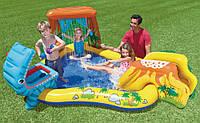 Надувной игровой центр с бассейном и горкой 57444 Intex, размер 249х191х109 см, фото 1