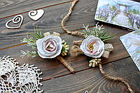 Свадебный браслет и бутоньерка, фото 1