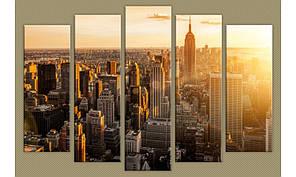 Модульная картина New York City-11 85х130 см (HAB-158)