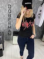Женская футболка Rock D44 черная, фото 1