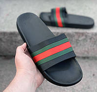 Мужские шлепанцы Gucci D05 черные