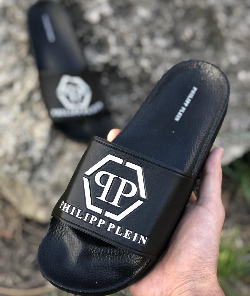Шлепанцы Philipp Plein D6902 черные