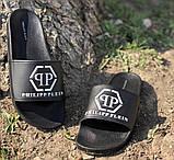 Шлепанцы Philipp Plein D6902 черные, фото 2