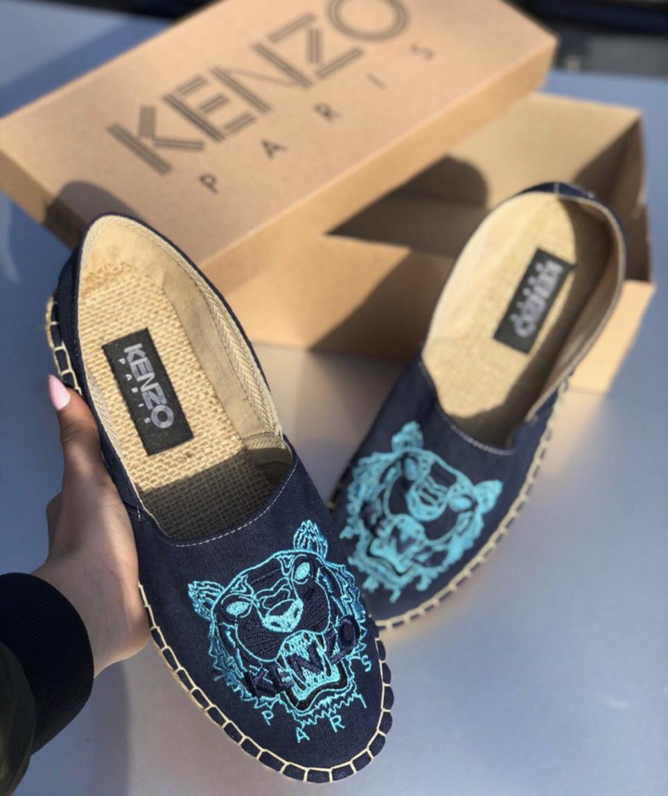Эспадрильи мужские Kenzo D6896 темно-синие