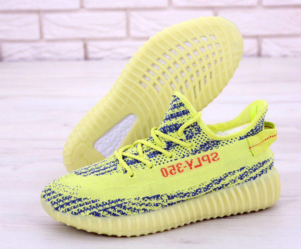 Кроссовки мужские Adidas Yeezy Boost 350 31246 желто-синие