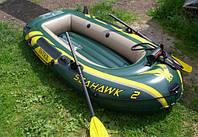 Надувная лодка Intex 68347 с набором весел, насоса, размер (236х114х41 см), фото 1