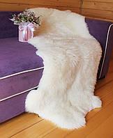 Коврик двойка сшит из двух овечьих шкур, белый цвет