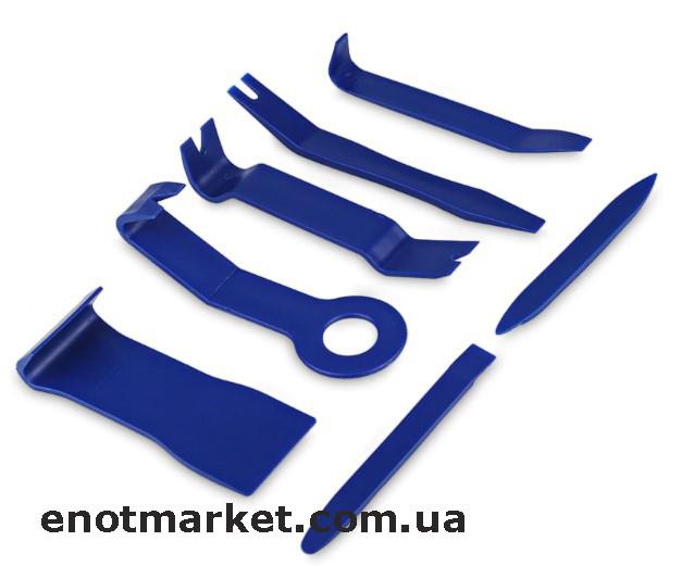 Набор инструментов съемники лопатки для снятия обшивки салона, панелей авто, магнитол, удаления клипс (7 шт.)