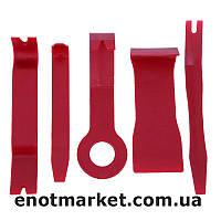 Набор инструментов съемники лопатки для снятия обшивки салона, панелей авто, магнитол, удаления клипс (5 шт.)