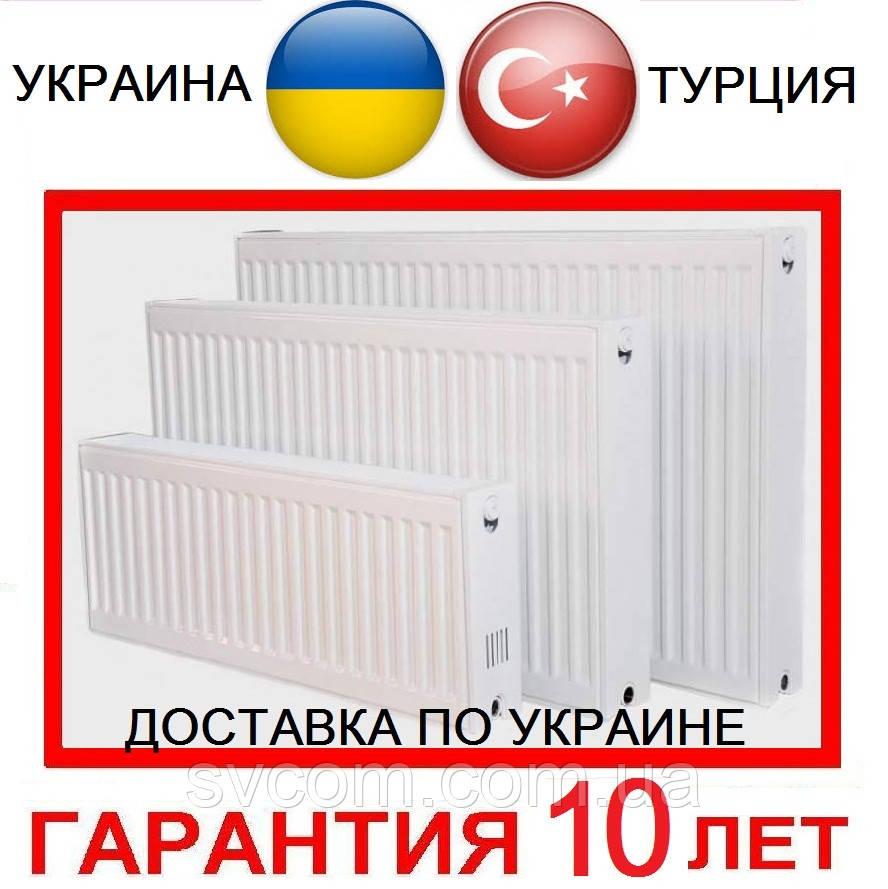 Радиаторы Стальные Батареи тип 11,22,33, Низ, Бок, 300 и 500 высота от Импортёра