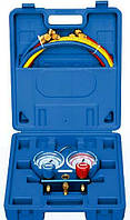 Манометр двухвентильный Value VMG-2 R410 A-B шланги 120 см (R410. 407. 22. 134) чемодан