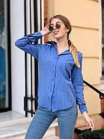 Клетчатая женская рубашка из хлопка 40BL243, фото 1
