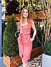 Гипюровое летнее платье на пуговицах с поясом 60PL2715