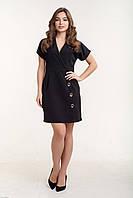 Платье на запах с пуговицами на юбке и коротким рукавом 65PL2718, фото 1