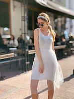 Летнее платье - майка с пышной фатиновой юбкой 40PL2722, фото 1