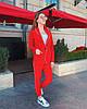 Женский брючный костюм с пиджаком и прямыми брюками 50KO1154