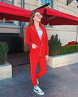 Женский брючный костюм с пиджаком и прямыми брюками 50KO1154, фото 1