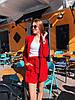 Летний женский костюм с шортами и пиджаком 50KO1155
