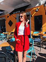 Летний женский костюм с шортами и пиджаком 50KO1155, фото 1