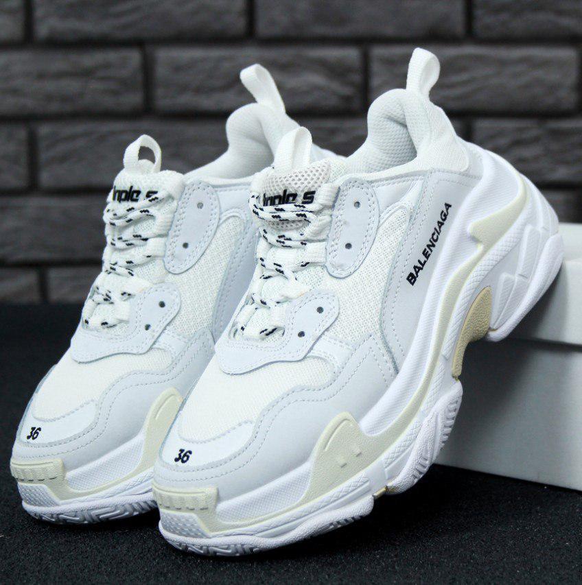 Женские кроссовки Balenciaga Triple S White