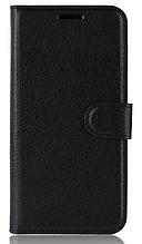 Кожаный чехол-книжка для Asus Zenfone Max Pro M2 ZB631KL черный