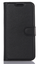 Кожаный чехол-книжка для Samsung Galaxy S7 черный