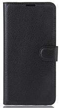 Кожаный чехол-книжка для Samsung galaxy j2 (2018) j250 черный
