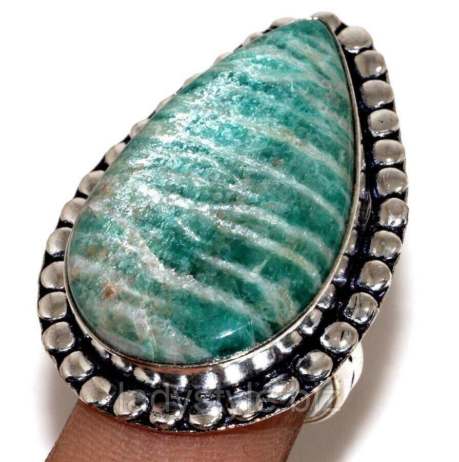 "Яркое кольцо с амазонитом ""Гламур"" , размер 19"