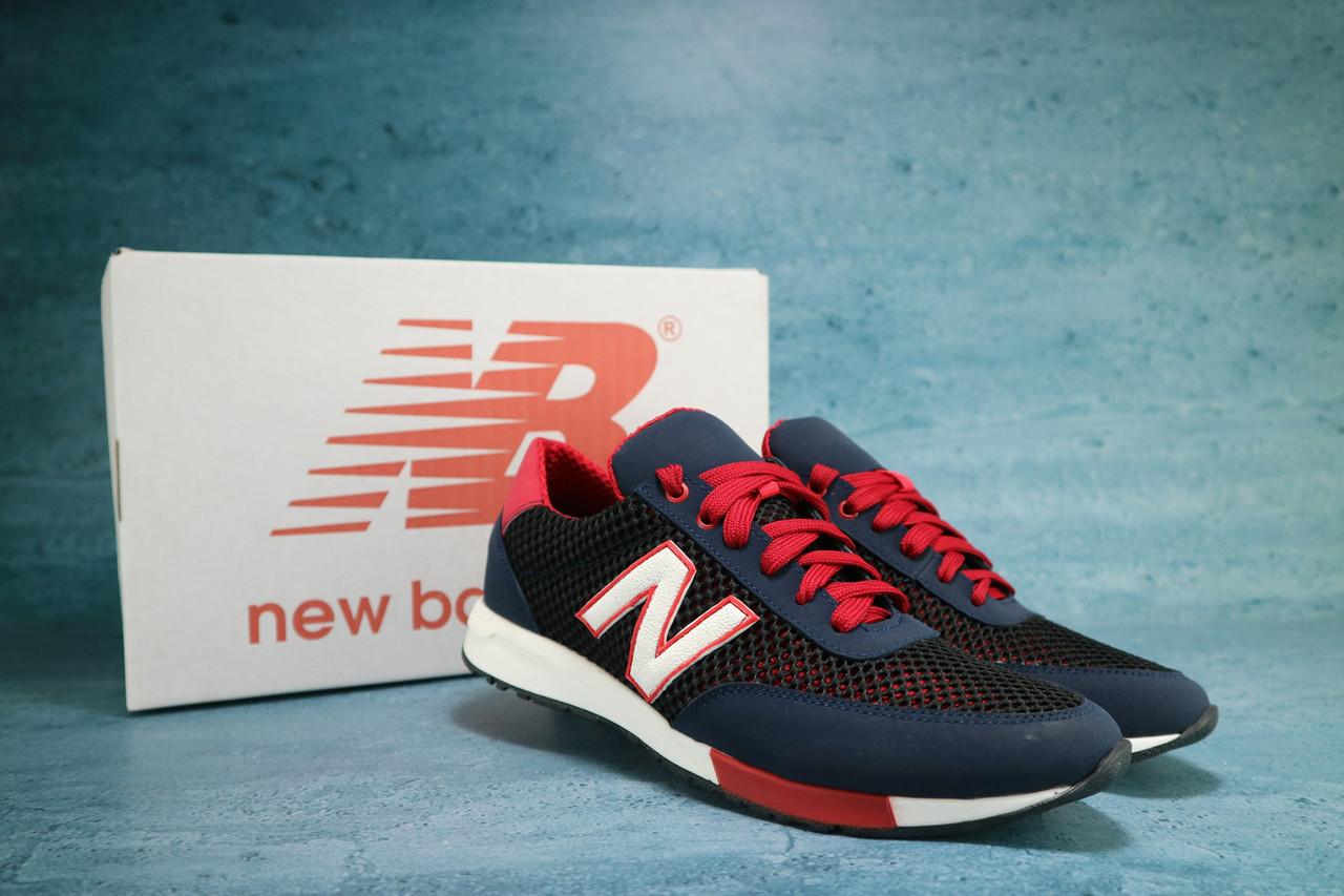 Мужские кроссовки текстильные летние синие-красные Brand 20 M 22
