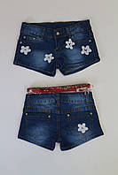 Джинсовые шорты для девочек 4,6,8,14лет.
