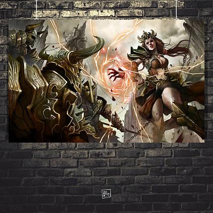 Постер Diablo 3, Дьябло 3. Размер 60x38см (A2). Глянцевая бумага, фото 2