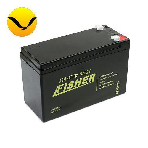 AGM аккумулятор Fisher 7a/h (Тяговый аккумулятор Фишер);